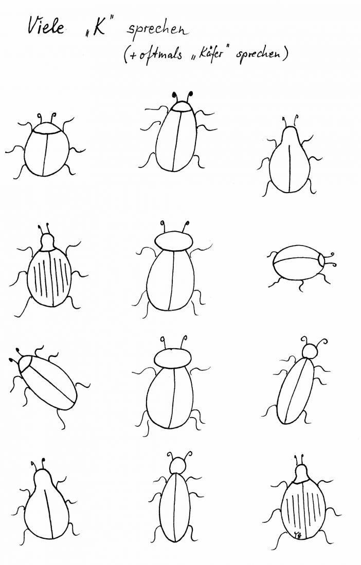Sprachanfang - Sommerzeit - Käferzeit